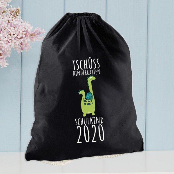 - Tschüss Kindergarten Turnbeutel in Schwarz - Onlineshop Geschenke24