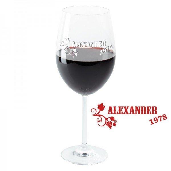 Weinglas - Weinrebe