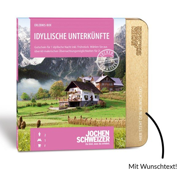 Erlebnis-Box Idyllische Unterkunft für 2 von Jochen Schweizer