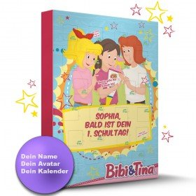 Bibi & Tina Schulstart Kalender mit Personalisierung