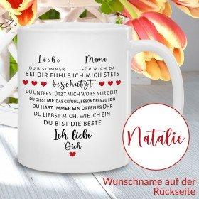 Tasse - Herz aus Worten für Mamas