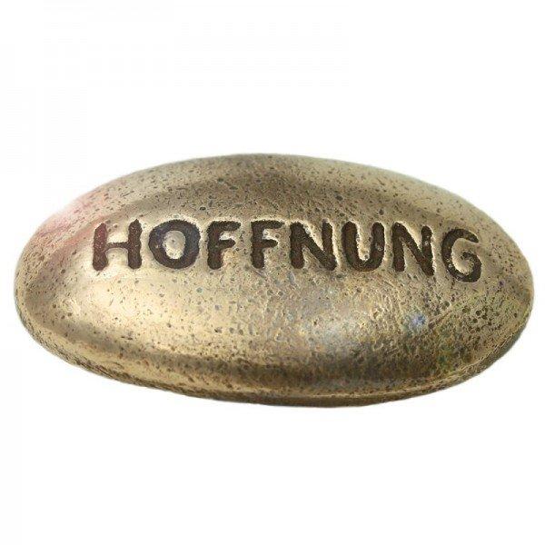 Wunschstein Hoffnung aus Bronze