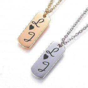 Halskette - Gravierte Initialen