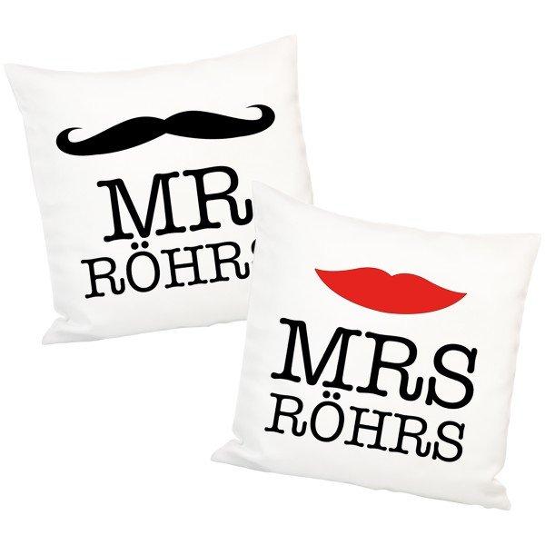 Mr & Mrs Kissen für Paare