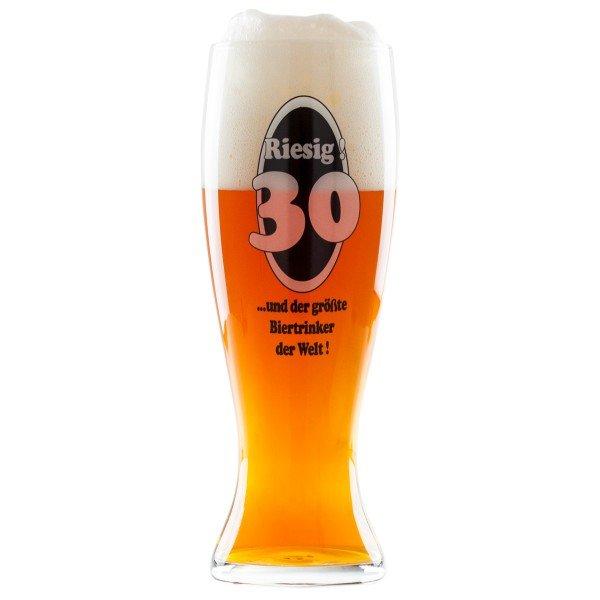 Riesen-Bierglas - 30. Geburtstag