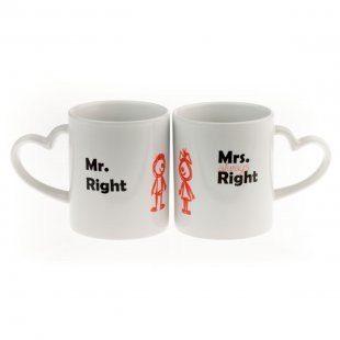 Tassen Set - Mr. & Mrs. Right