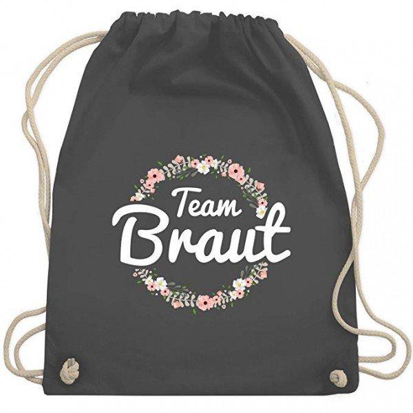 Tasche Team Braut - Schrift weiß
