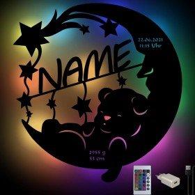 Farbwechsel Nachtlampe - Bär im Mond