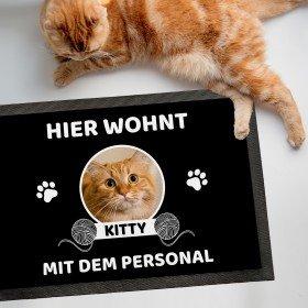 Fußmatte Katze/n mit Personal