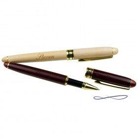 Gravierter Holzkugelschreiber