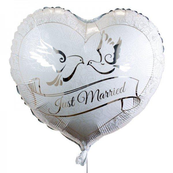 Herzballon - Silberfolie