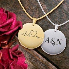 Halskette - Herzschlag mit Personalisierung