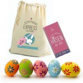 Geschenkbeutel Lieblingshase mit Schokolade