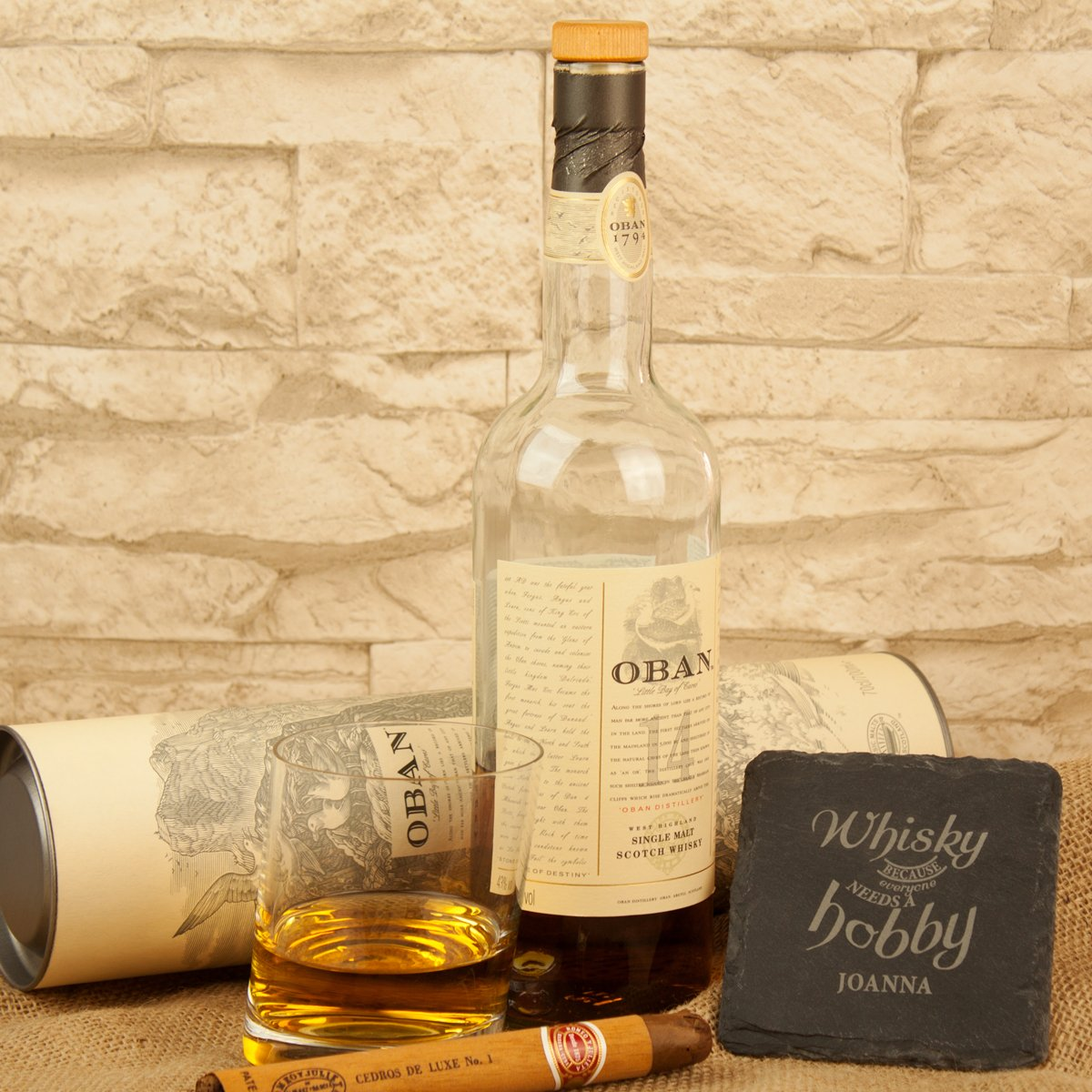 Schieferuntersetzer - Whisky