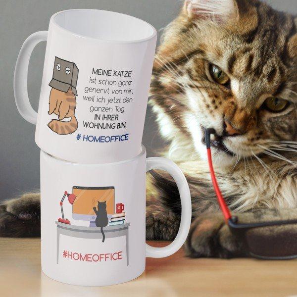 Tasse #HOMEOFFICE - Meine Katze im Büro