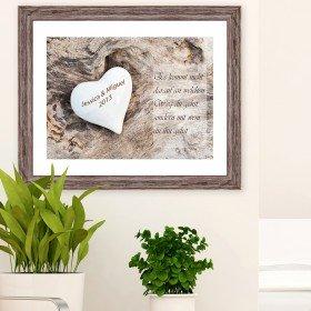 Bild - Hochzeitsherz mit Personalisierung