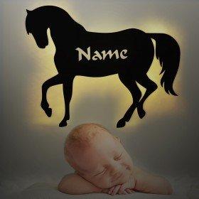 Nachtlicht Pferd mit Wunschname