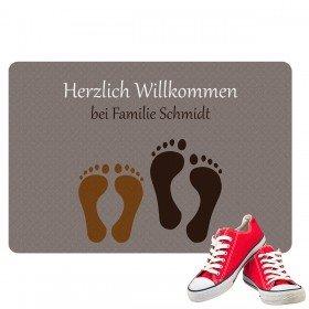 Fußmatte - Fußabdruck mit Familiennamen
