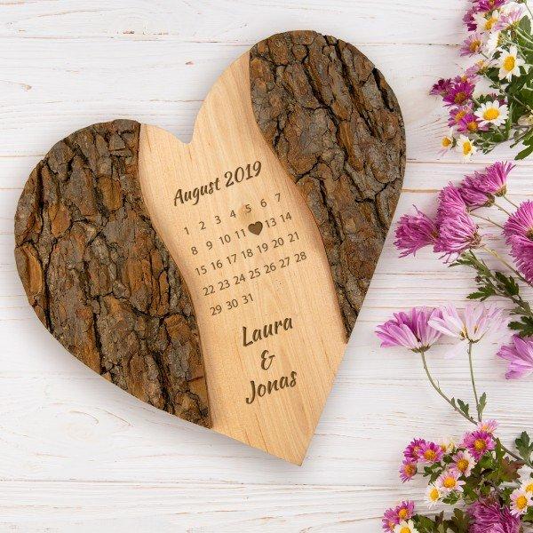 Holz-Herz - Schönster Tag