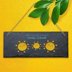Schiefertafel - Willkommen auf der Sonnenseite