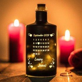 Flasche mit LED - Schönster Tag