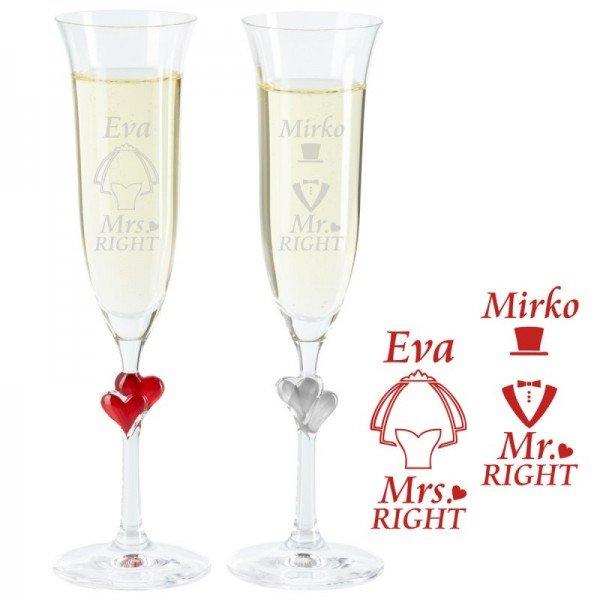Sektglas Set - Brautpaar
