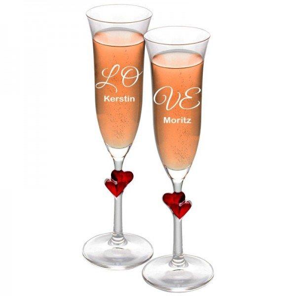 - Sektglas Set Love - Onlineshop Geschenke24