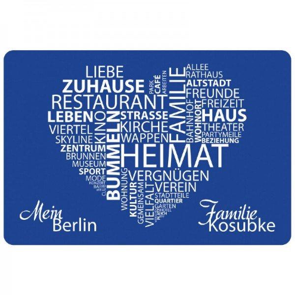 Fußmatte - Meine Stadt/ Mein Dorf mit Personalisierung