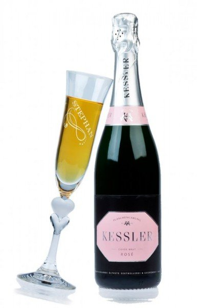 Sekt Geschenkset - Kessler Rosé Brut (ein Glas)