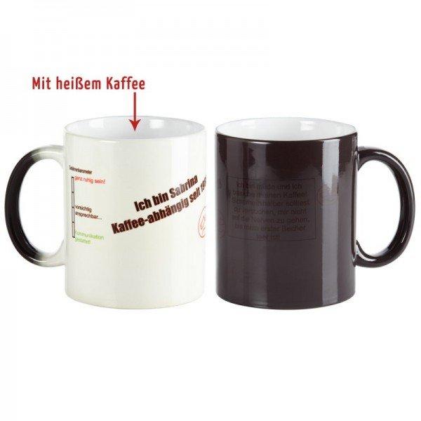 Kaffeebecher mit Stimmungsbarometer