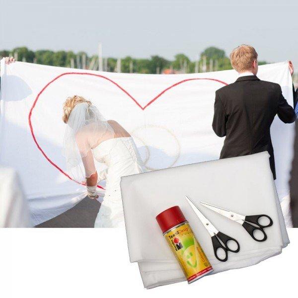 Hochzeits-Herz zum Ausschneiden