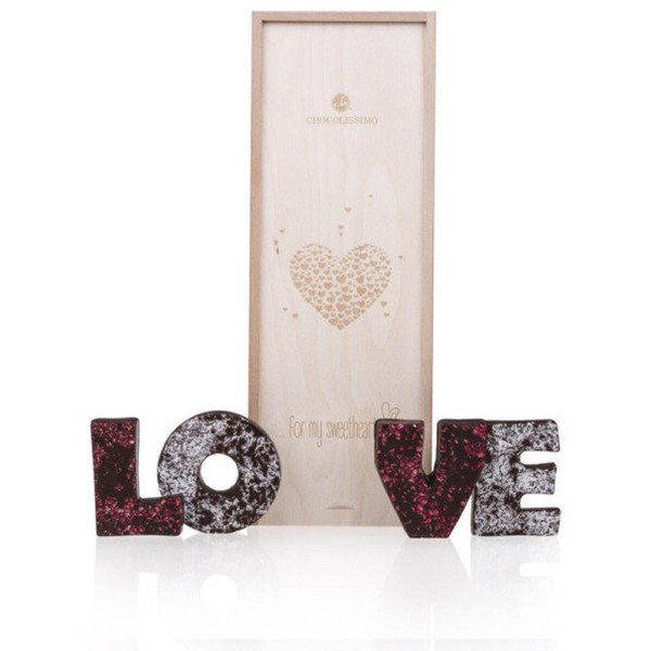 - LOVE Schokoladenbuchstaben Zartbitter - Onlineshop Geschenke24