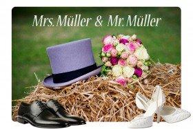 Fußmatte - Mrs. und Mr.