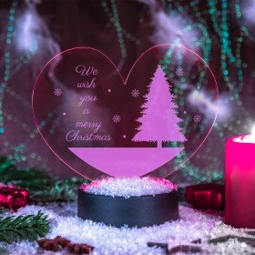 LED-Herzleuchte - Merry Christmas
