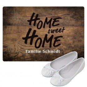 Fußmatte - Home sweet home mit Personalisierung