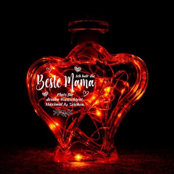 - Herzflasche beleuchtet Beste Mama - Onlineshop Geschenke24