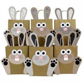 DIY Geschenktüten mit Osterhasen in schwarz-weiß