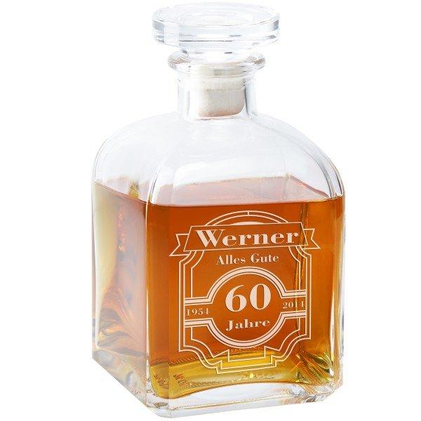 Whiskykaraffe - Runder Geburtstag