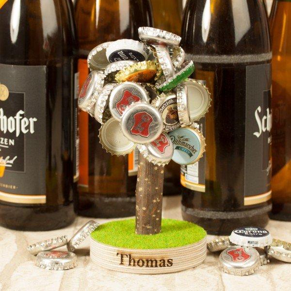 Bierbaum Magnet mit Gravur für Kronkorken