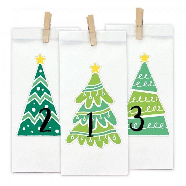 Adventskalender zum Befüllen - Tannenbaum