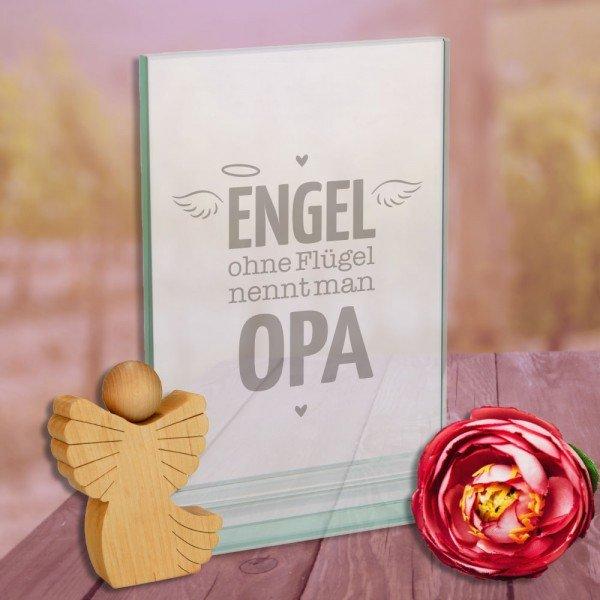 Glaspokal - Engel ohne Flügel nennt man Opa