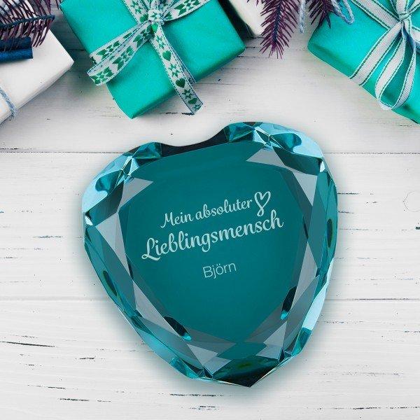 Herz-Diamant - Mein absoluter Lieblingsmensch mit Personalisierung