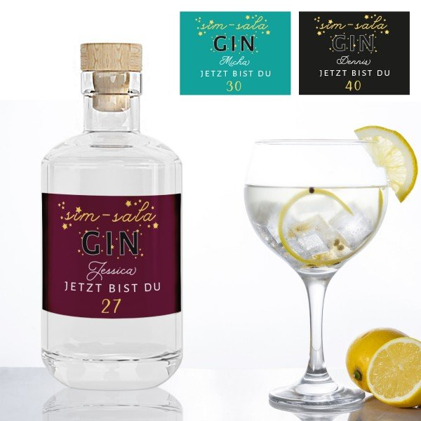 Gin mit persönlichem Etikett - Geburtstag