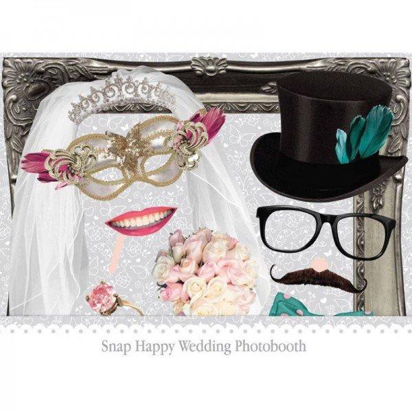 Bilderrahmen mit Hochzeits-Requisiten
