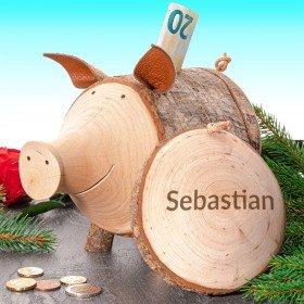 Sparschwein - Rudi aus Holz