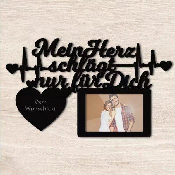 - Herzschlag Bilderrahmen mit Namen - Onlineshop Geschenke24