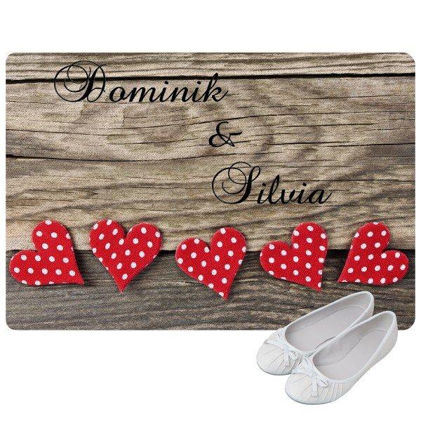 Fußmatte Herzen