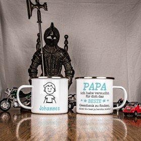 Metalltasse - Das beste Geschenk für Papa