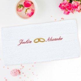 Hochzeitshandtuch - Eheringe
