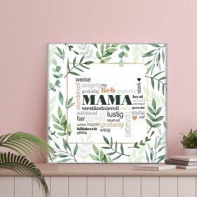 Leinwand - Mama in Grün